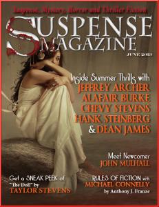 Suspense magazine art feature and interview
